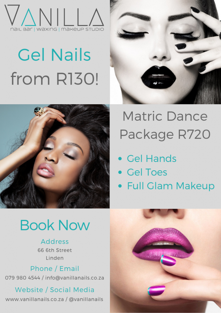 Matric dance glam package special 2019_Matric dance makeup and nails special